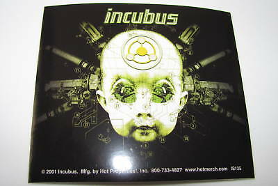 Incubus Baby Face Gears Rare NEW Car 2001 Bumper Band Music Sticker