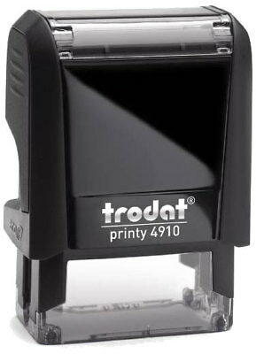 TRODAT PRINTY 4910 SELF INKING RUBBER STAMP 24mm x 7mm