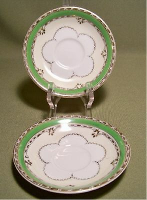 2 Saucers Hand Painted Made In Occupied Japan Very Nice