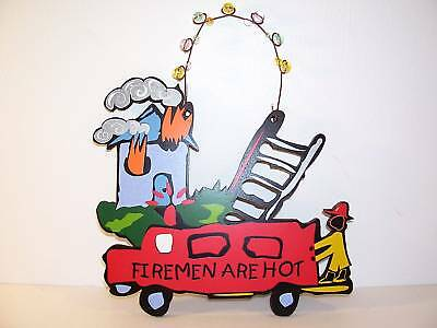 Firemen Are Hot Hanging Sign Shelia's