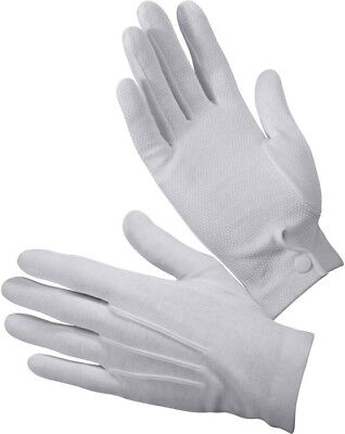 White Gripper Dot Dress Parade Gloves