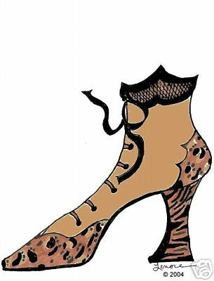 personalized leopard boot cards & envelopes CUTE GIFT
