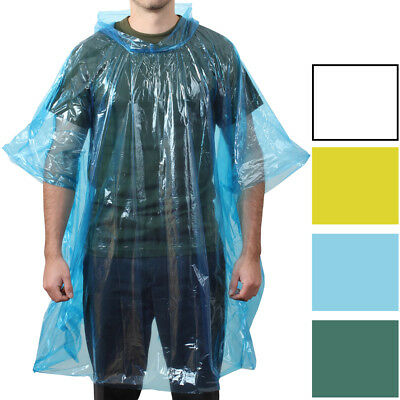 Emergency Rain Poncho Waterproof Lightweight All Weather Pocket Size Reusable