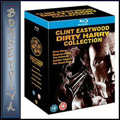 Clint Eastwood Dirty Harry Blu Ray Collection - Brand New Boxset