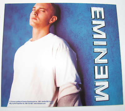 Eminem Leaning on Blue Wall Photo Marshall Bumper 4x4.5 Music Sticker