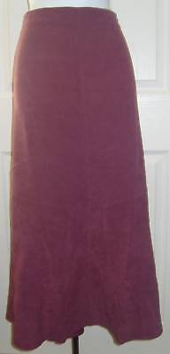 New Casual Comfort Berry Suedette Skirt Size 14 L32""