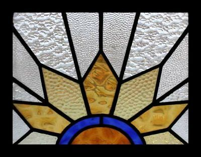 Glorious Art Deco Sunburst English Stained Glass Window