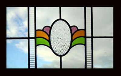 Beautiful Art Deco English Stained Glass Window