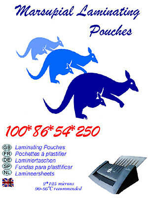 100 ID credit card size laminating pouches laminator 54*86mm 250 micron