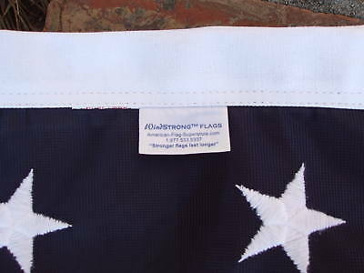 6X10 FT US AMERICAN FLAG  WindStrong™ Flags Embroidered Stars Reinforced Corners