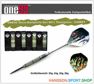ONE80 Profi Steel Dart Dartpfeile 80% Tungsten - COMET