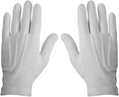 White Military Cotton Dress Parade Gloves