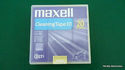 "Maxell 183770 1/2"" DLT Cleaning Tape III"