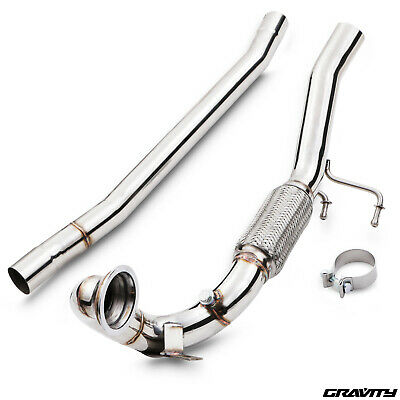 Stainless Steel Exhaust Decat De Cat Downpipes For Vw Golf R Mk7 2.0 Turbo 12+