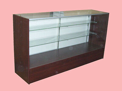 """70"""" Cherry Full Vision Showcase Display Store Fixture KNOCKED DOWN Case #SC6C"""