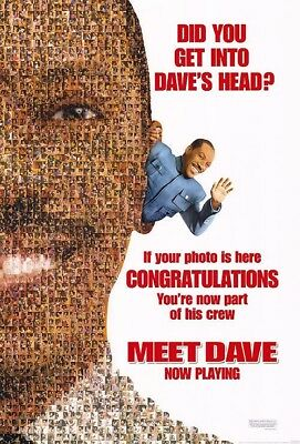 MEET DAVE MOVIE POSTER 2 Sided ORIGINAL Advance 27x40