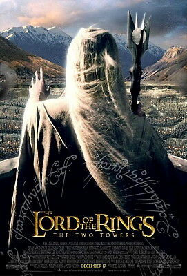 Lord Of The Rings Two Towers Original Movie Poster Ds D