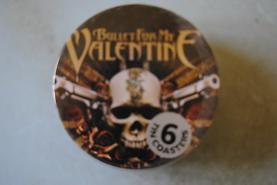 Bullet For My Valentine Pistols 6 Tin Coasters Set Bnwt