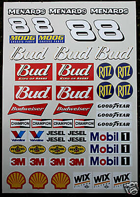 RC Nascar GT Stock stickers decals Tamiya Earnhardt