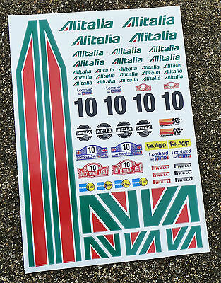 RC Alitalia stickers decals 1/18 losi mini xray 18th