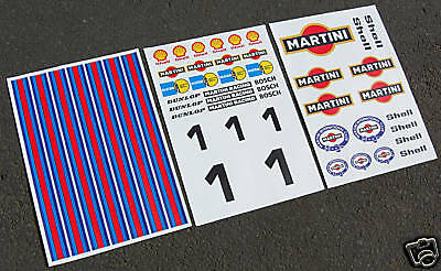 HPI BAJA 5T 1/5th RC MARTINI stickers decals FG MCD