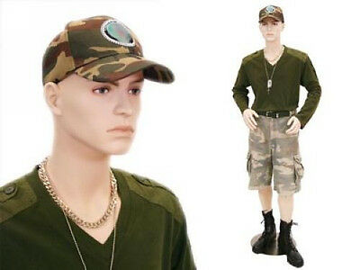 Male Fiberglass Mannequin Manequin Manikin Dress Form Display #STEVE