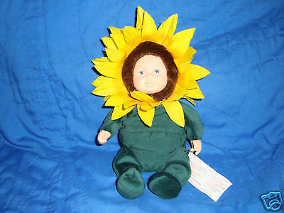 "Anne Geddes  Baby Sunflower Plush 5"" Doll"