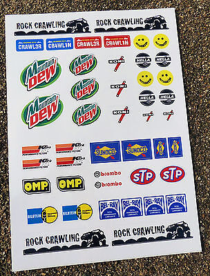 RC Rock Crawler Stickers Decals Tamiya CR-01 Axial