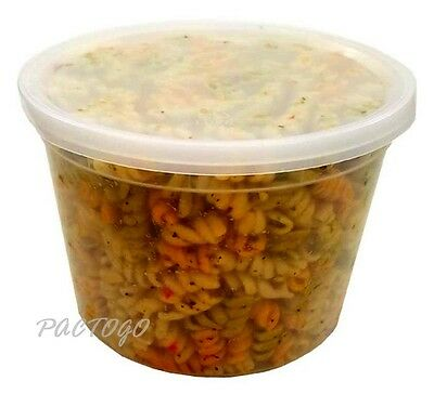 64 oz. Clear Microwaveable Heavy Soup Food Freezer Deli Container Tub w/Lid 20PK