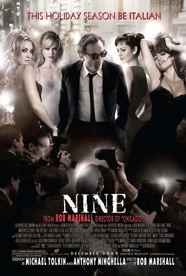 NINE MOVIE POSTER 1 Sided ORIGINAL Version A 27x40
