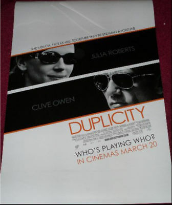 Cinema Poster: DUPLICITY 2009 (One Sheet B/W) Clive Owen Julia Roberts