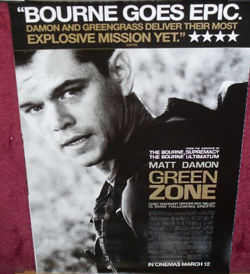 Cinema Poster: GREEN ZONE 2010 (1sh) Matt Damon