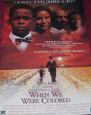 Cinema Poster: WHEN WE WERE COLORED 1995 (One Sheet)