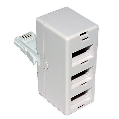 BT 3 Way Triple Telephone Phone Adaptor Splitter