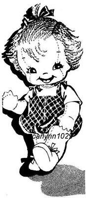"Vintage 12"" Cloth Baby Doll Pattern"