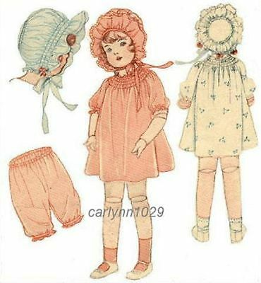 "Antique 1920's  Clothes Pattern for 22"" Dolls"