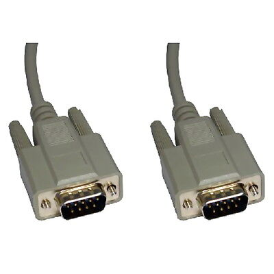 2m Serial RS232 9 Pin Male to Male Cable Lead