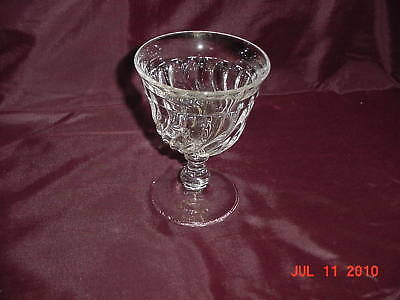 "5 1/4"" Crystal Water Goblet Fostoria ""Colony"" c:1940-78"
