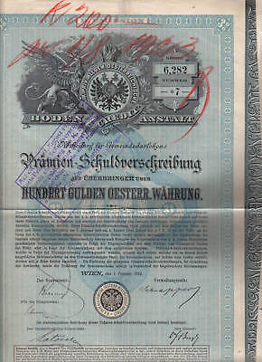 Obligation : AUTRICHE AUSTRIA WIEN 1889 OBLIGATION