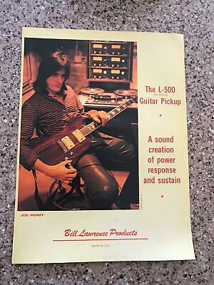 1981 VINTAGE AD Bill Lawrence L-500 Guitar Joe Perry