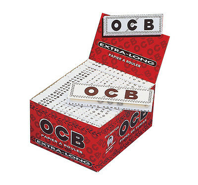 OCB Weiß Extra Long Rolling Papers King Size, volle Box á 50 Heftchen