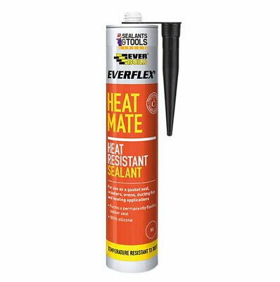 Everbuild  Heat Mate Silicone Sealant 300˚C Black Heat Resistant