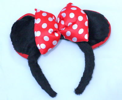 Halloween Costume Minnie Character Bow Ears HeadBand Girl Party Clothing H59