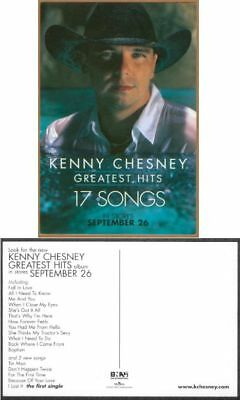 Kenny Chesney Greatest Hits Promo Post Card