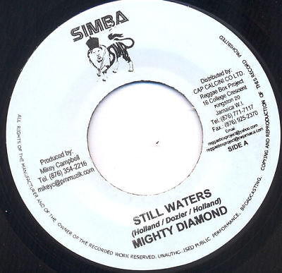 """REGGAE COVER STILL WATERS/TEARS OF..MIGHTY DIAMONDS 7""""♫"""