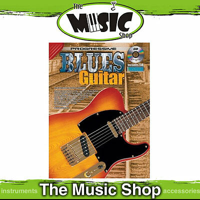 Progressive Blues Guitar Lesson Book with free CD New - The Music Shop