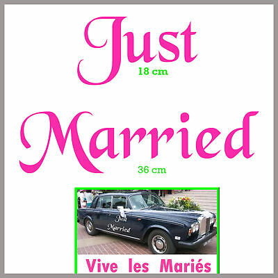 Sticker Autocollant MARIAGE JUST MARRIED