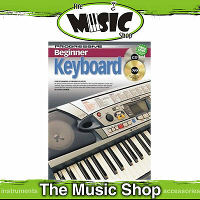 New Progressive Beginner Electronic Keyboard Book with CD & DVD