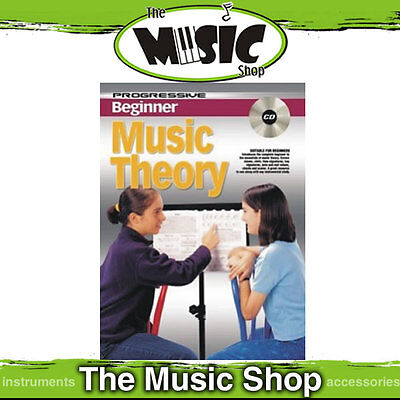 Progressive Beginner Music Theory Tuition Book with CD & DVD - Theory Lesson New