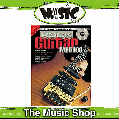 Progressive Rock Guitar Method Lesson Book with CD New